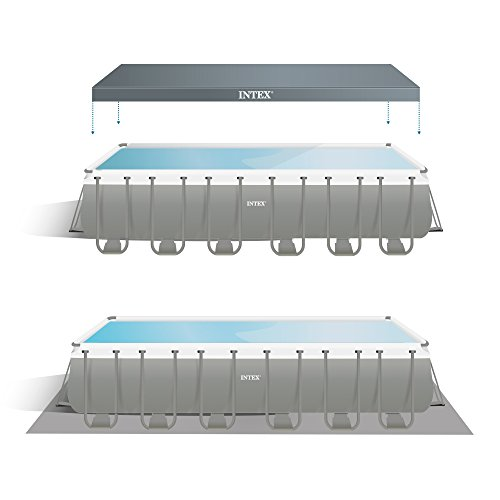 Intex 732x366x132 cm Ultra Frame Swimming Pool 26362 Komplett-Set
