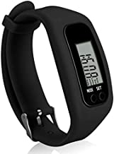 Coch Fitness Tracker Watch, Simply Operation Walking Running Pedometer with Calorie Burning and Steps Counting (BLACK-MJ27)