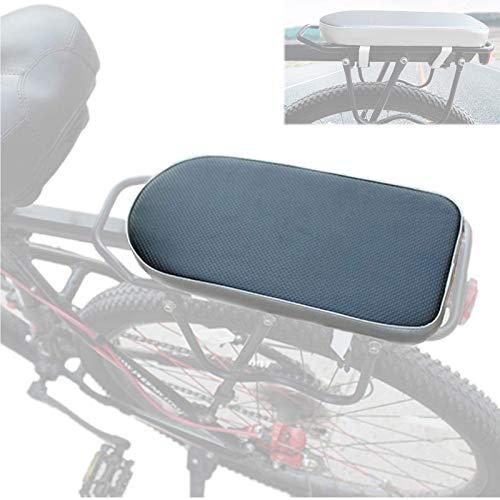 QWET Asiento De Bicicleta, Accesorios para Bicicletas Montados En La Parte Trasera con CóModo CojíN para Bicicletas, FáCil De Instalar,Negro