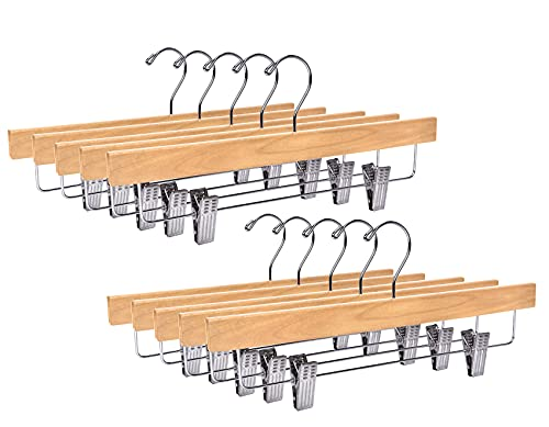 Quality Hangers Wooden Pants Hangers - 20-Pack...