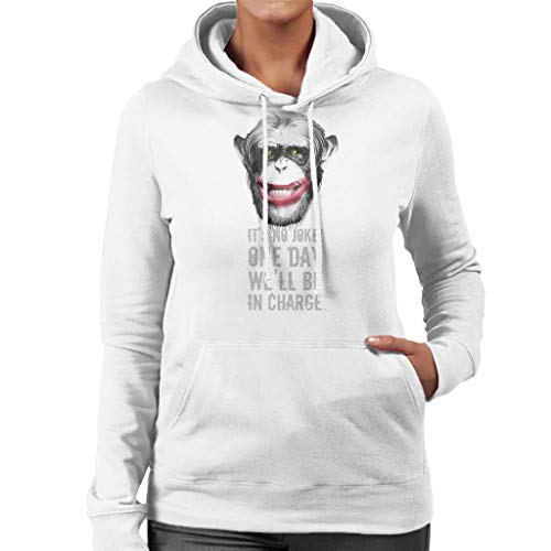 Chimp Clown One Day Well Be In Charge Women's Hooded Sweatshirt
