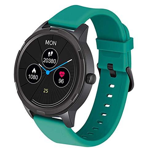 Smartwatch, Fitness Armband 5ATM Wasserdicht Fitnessuhr Sportuhr Schrittzähler Schlafmonitor Anruf SMS Beachten Armbanduhr Damen Herren Pulsuhren Stoppuhr Smart Watch Uhr für Android iOS,Grün