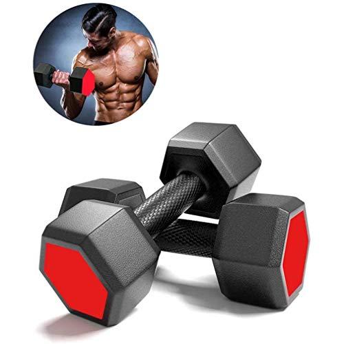 TIFJL Dumbbellgewichte, Paar Hexagonal Dumbbells Set, gummierte Bump Resistant Fitnessgeräte für Gym Heim Exercise