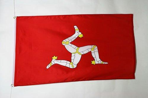 AZ FLAG Bandera de la Isla DE Man 150x90cm - Bandera MANÉS 90 x 150 cm