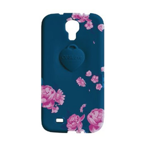 Cover OPS Objects FLOWER Samsung S4 Blu OPSCOVS4-15