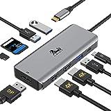 USB C Hub Triple Display, USB C to Dual HDMI...