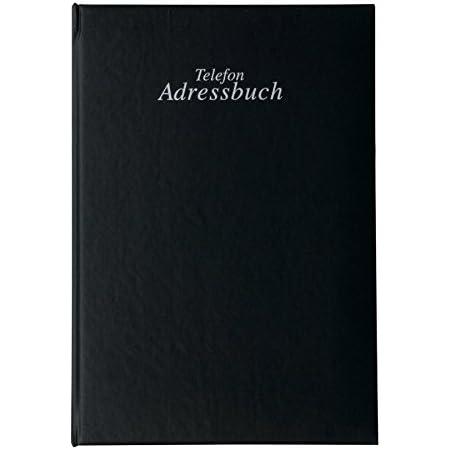 Esposti Telefon und Adressbuch Gr/ö/ße 21,5cm x 16cm Schwarz