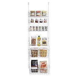 white metal over-the-door pantry organizer
