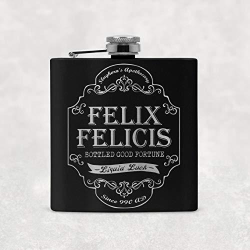 Magical Wizard Felix Felicis, fiaschetta da 170 ml, con confezione regalo e imbuto