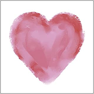 Watercolor Red Heart Napkins