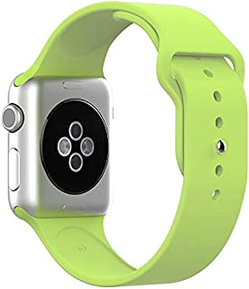Silicone Sport Replacement WristBand Strap for Apple Watch 42mm - Green