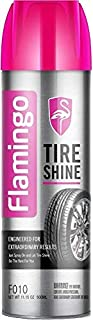 FLAMINGO TIR SHINE, TIRE CARE,TIRE GLOSS F010, 500ML, منظف و ملمع اطارات بدون رغوة
