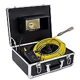 H.L Cámara inspección de tuberías, Drenaje de alcantarillado Industrial endoscopio IP68 1000TVL cámara HD con Monitor de 7 Pulgadas,50Mcable