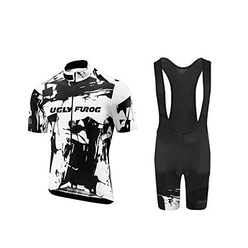 UGLY FROG Neuen Männer MTB Rennrad Kurzarm Fahrrad Breathable Sommer Herren Fahrradtrikot Outdoor Sports Wear Triathon Rikots & Shirts+Bib Kurze Hosen Sets