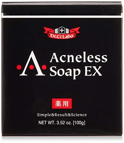 【公式】ドクターシーラボ 薬用アクネレスソープEX ニキビ予防石けん 大人ニキビ 標準重量100g 1ヶ月分