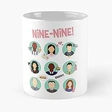 Brooklyn Nine-nine Squad Classic Mug - The Funny Coffee Mugs For Halloween, Holiday, Christmas Party Decoration 11 Ounce White-jimwendler.