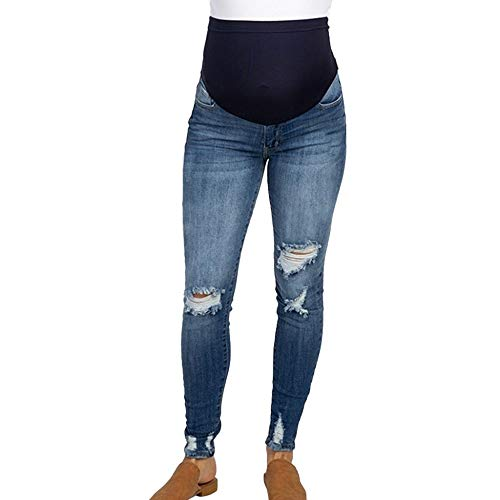 Damen Umstandsmode Umstandsjeans Damen Straight Umstandsleggings Stretch Schwangere Jeanshose Maternity Schwangerschaftshose Weich Umstandshose Slim Fit Jeans Leggings