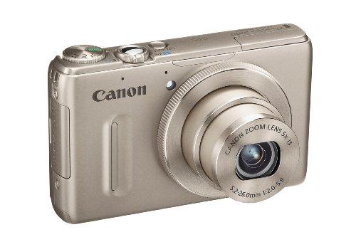 Canon Powershot S100 Digitalkamera (12 MP, 5-fach opt. Zoom, 7,7cm (3 Zoll) Bildschirm, Full-HD Video, GPS, bildstabilisiert) silber