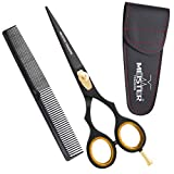 Professional Hair-Cutting Shears Hairdressing | Haircutting Barber Salon Scissors for Mustache & Beard Grooming Hair. Hairdresser Styling Thinning Trimming Cutting Scissors. Classic 6.5'