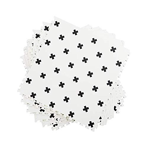 Grey & Wite Interlocking Floor Foam Mat with Carry Bag, Living Room Kids Playmat Gardan Yoga Exercise Gym Gymnastic Children's Bed Room Equipment Soft Foam Tiles (White, 12PC)