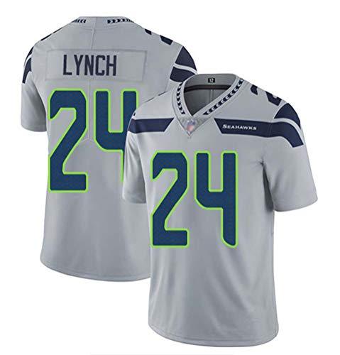 OMG020 2020 NFL Seahawks # 24 Lynch Fußballtrikot,Gray,M