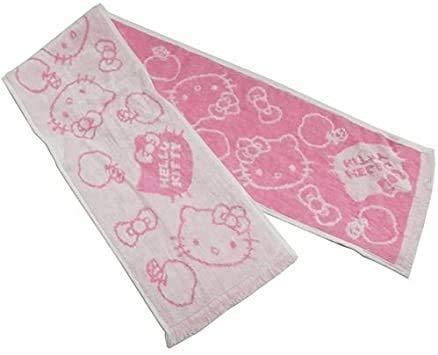 ピンク16×90cm丸眞サンリオハローキティひんやり接触冷感マフラータオルひんやりキティ日本製16&time
