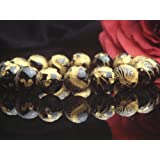 【ハヤシ ザッカ】 HAYASHI ZAKKA ●AAAランク12ミリ数珠/ブレスレット ( 手彫金箔入り風水四神獣の龍オニキス) Lサイズ内周17.5cm前後