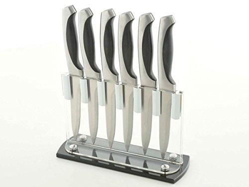 Messerset Küche Valencia 6-teiliger Messerblock aus Acryl