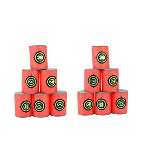 Oulii weiche Schaumstoff-Ziel-Dosen für Nerf-Guns, 12Stück