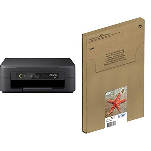 Epson Expression Home XP-3100 Print/Scan/Copy Wi-Fi Printer, Black with Additional Ink Multipack