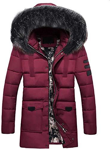2021 Men's Hooded Puffer Jacket Warm Winter Coat Windbreaker Jackets Zipper Plus Size Outwear Casual Overcoat