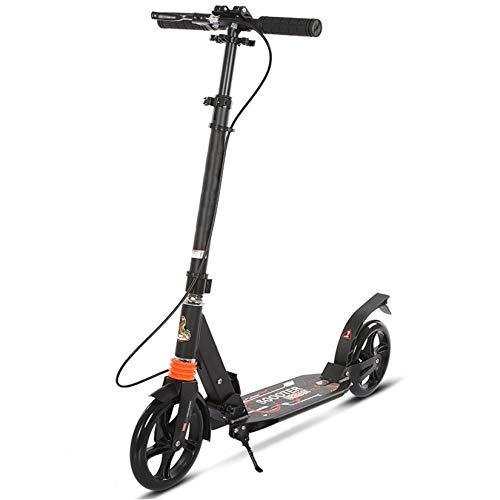 WYJJ Scooters para niños, Scooter Plegable Ajustable para Adultos, Freno Delantero y Trasero, Pata de Cabra, Scooters Ligeros para jóvenes