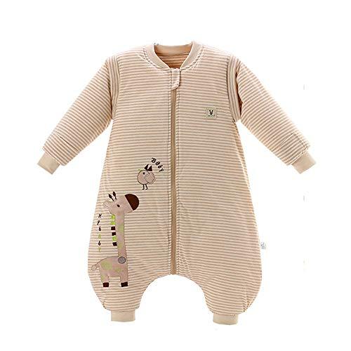 MOMIN-HM Baby-Schlafsack Unisex-Baby-Schlaf-Tasche Wearable Decke Baumwoll-Schlafsack Abnehmbare Langarm-Nest Nightgowns für Säuglingskleinkind (Farbe, Größe : S)