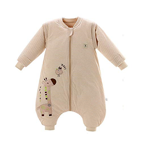 MOMIN-HM Baby-Schlafsack Unisex-Baby-Schlaf-Tasche Wearable Decke Baumwoll-Schlafsack Abnehmbare Langarm-Nest Nightgowns für Säuglingskleinkind (Farbe, Größe : M)