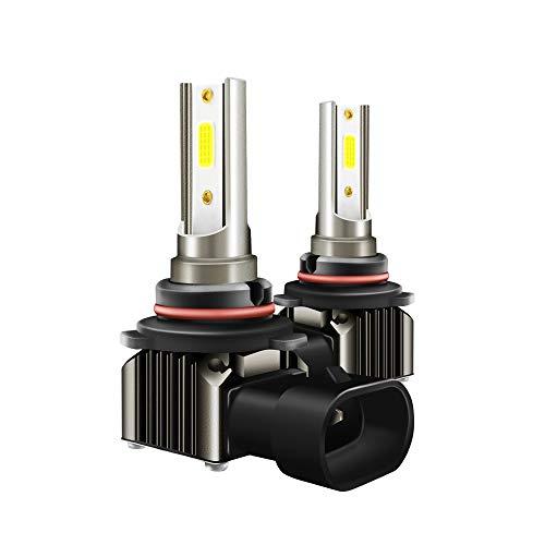 WWSUNNY 9005/HB3/H10 Faros Delanteros Bombillas LED 36 W 6000LM 6000K Super Brillante Lámpara de Luces Blancas para Coches, Vehículos, IP68 Impermeable (2 Piezas)