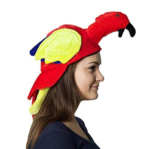 ZZBO Erwachsene Mütze Strickmütze Baby Unisex Wintermütze Warme Mütze Cartoon Papagei Hut Baseball Caps Basecap Mode Kopfbedeckung