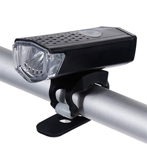 Ricaricabile Luce della bicicletta 300 lumen 3 modalità di fari della bicicletta della torcia elettrica del generatore Luci anteriore luci correnti black