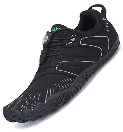 Zapatillas de Minimalista de Barefoot Trail Running Hombre Mujer,59 Negro,41