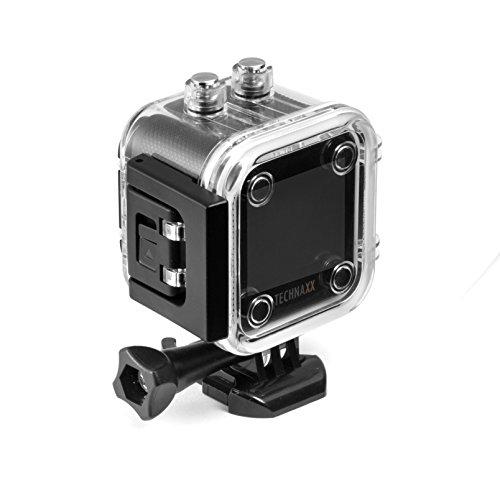 Technaxx Action Cam FullHD 360° TX-96, Action Sport Kamera für Skifahren, Radfahren, Klettern, Sports Cam