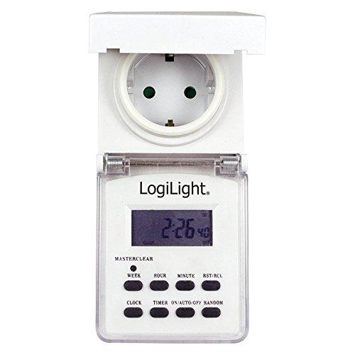 LogiLight ET0004 Digitale Zeitschaltuhr mit grossem LCD Display, für den Aussenbereich