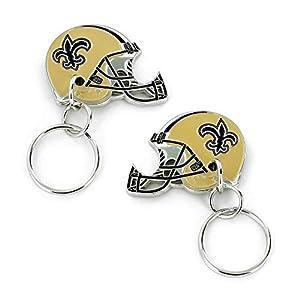 Aminco NFL New Orleans Saints 2-Sided Helmet Bottle Opener Keychain, Team Color, 4