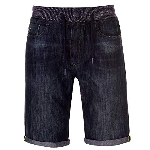 Geen angst Mens Dubbele Taille Denim Shorts Rits Vlieg Sluiting