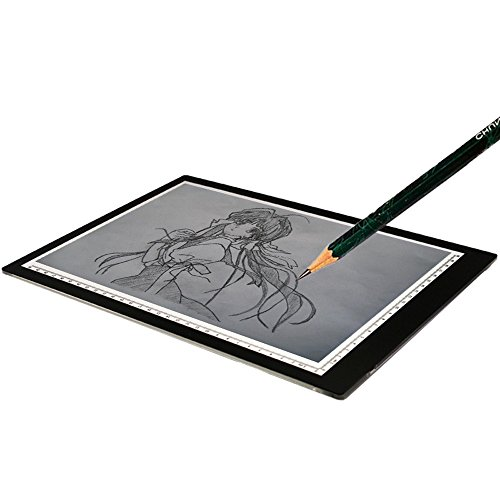 Rumfo A4 LED Light Box Ultra-thin Portable USB Power Cable LED Light Pad Tracing Board for Art Craft Drawing Stencil Sketching Animation