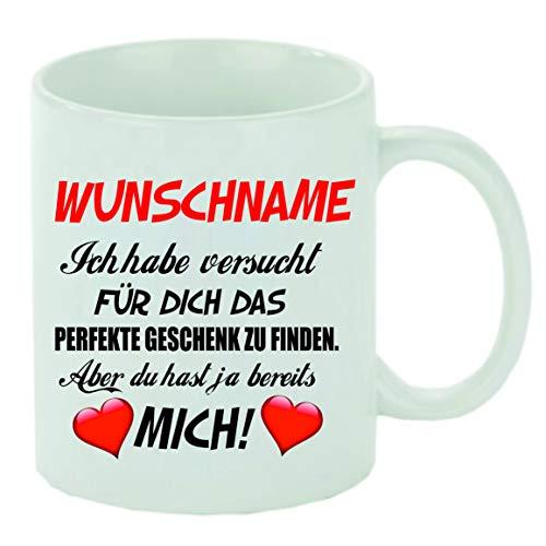 """Kaffeebecher\"""" (Wunschname) Ich habe versucht für dich das perfekte Geschenk zu finden.\"""" Kaffeetasse mit Motiv, bedruckte Tasse mit Sprüchen oder Bildern - auch individuelle Gestaltung"""