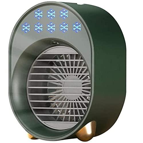 CHUANDA Aire portátil Mini USB ventilador aire acondicionado humidificador para el hogar oficina sala escritorio aire acondicionado purificador
