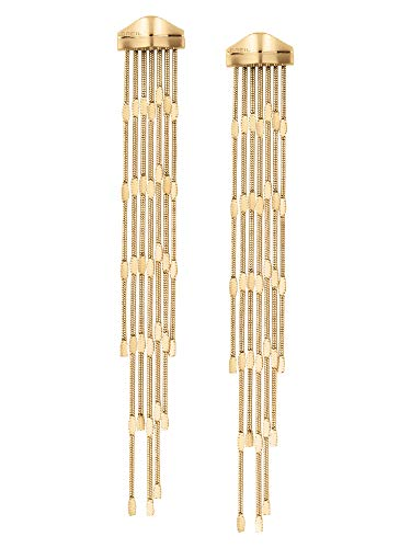 BREIL JEWEL Ladys' SINUOUS collection, IP COLOURED STAINLESS STEEL EARRINGS UNIQUE, GOLD color with NO STONES - TJ2947