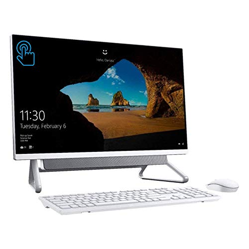 New_Dell Inspiron 7000 27-inch FHD All-in-One Touchscreen Desktop, Intel Core i7-10510U (up to 4.9 GHz), 12GB DDR4 RAM, 512GB PCIe SSD, WiFi, Bluetooth, Webcam, Win 10 with 1-Week Shoxlab Tech Support