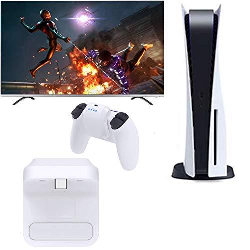 Fbewan 1500mAh Wireless Handle Akku für PS5 Dualsense Controller, Schnellladung Externes Ladegerät für Akkus mit LED-Anzeige für Playstation 5,Weiß