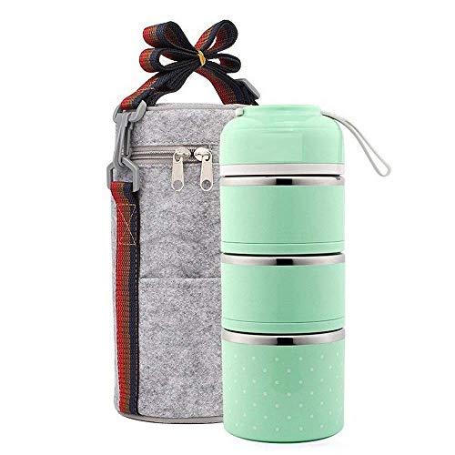 Lunchbox/Bento Box Edelstahl Lebensmittel Container Isolierung brotdose,mit tasche
