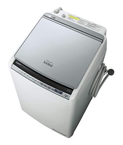 日立 タテ型洗濯乾燥機 ビートウォッシュ 洗濯9kg/洗濯~乾燥5kg 本体幅57cm 本体日本製 BW-DV90E S シルバー